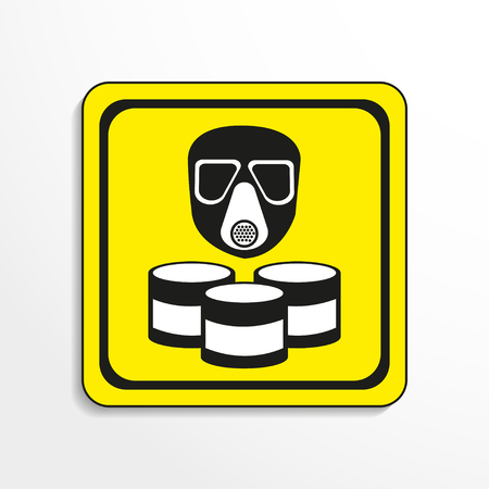Danger sign. Toxic waste. Vector icon.