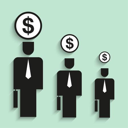 growth: Career growth. Vector illustration.