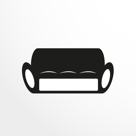 pieces of furniture: Pieces of furniture. Sofa. Vector illustration.