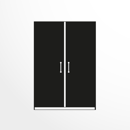 pieces of furniture: Pieces of furniture. Wardrobe for cloths. Vector illustration. Illustration