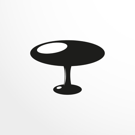 coffee table: Pieces of furniture. Coffee table. Vector illustration. Illustration