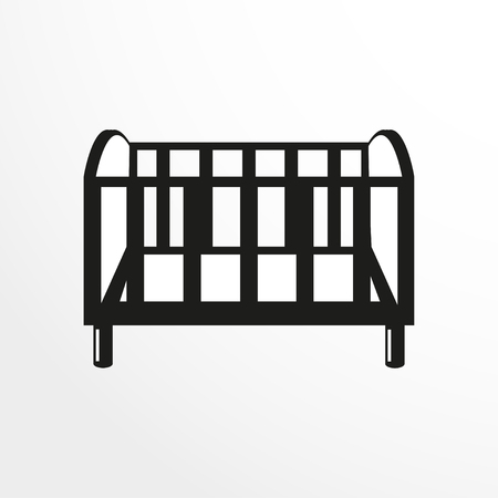 rest in peace: Pieces of furniture. Crib. Vector illustration.