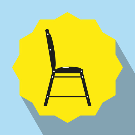 Pieces of furniture. Kitchen chair. Vector icon.