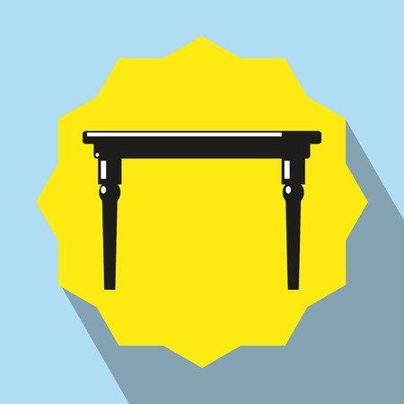 pieces of furniture: Pieces of furniture. Dinner table. Vector icon. Illustration
