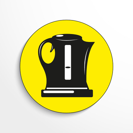 Electric kettle. Vector icon. Illustration