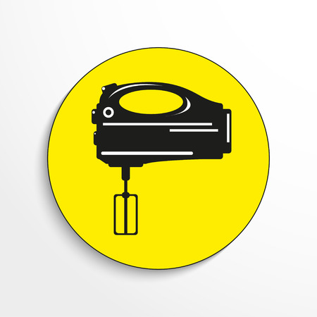 stirrer: Domestic mixer. Vector icon.