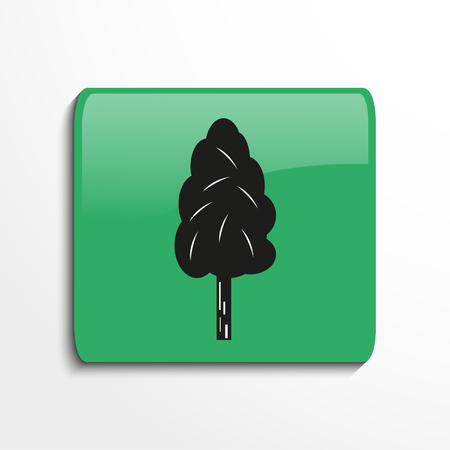 cultivating: One tree. Symbol. Vector icon.