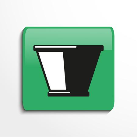earthenware: Flower pot. Symbol. Vector icon.
