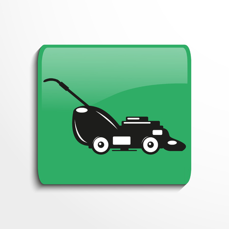 garden maintenance: Mower. Symbol. Vector icon. Illustration