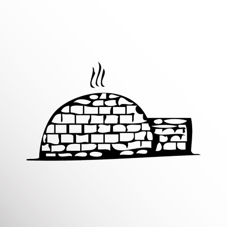 Igloo. Drawing. Sketch style. Illustration