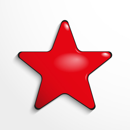 The button in the shape of a star. Vector icon.