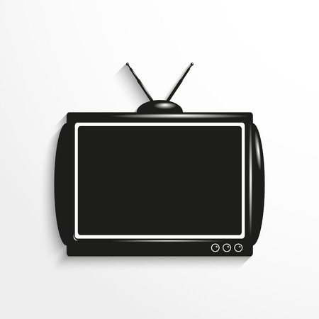 old tv: Old TV. Vector icon.