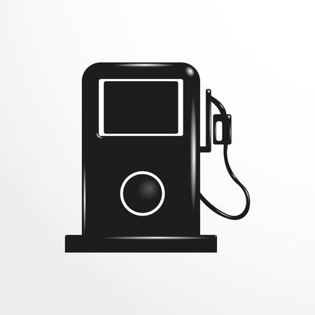 refueling: Petrol station. Vector icon.
