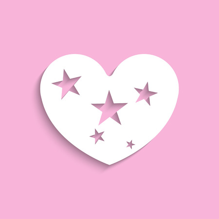 starlet: Heart with stars. Vector icon. Illustration