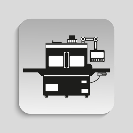 Industrieel materiaal. Machine. Vector pictogram.
