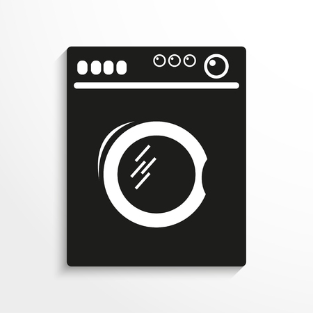 Haushaltsgeräte. Waschmaschine. Vector-Symbol.