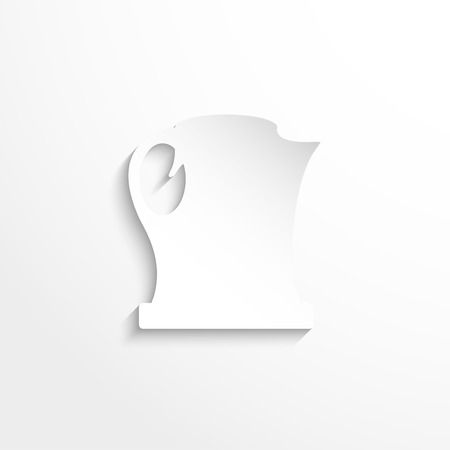 electric kettle: Electric kettle. Vector icon. Illustration