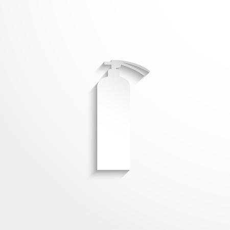 denote: Fire extinguisher. Vector icon.