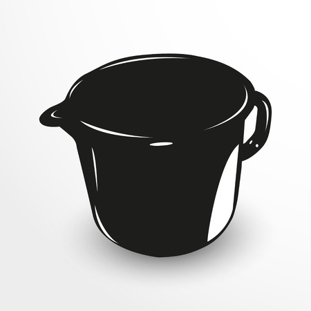 concentrate: Jug. Vector illustration. Black and white view