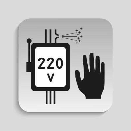 deeply: Danger sign. High voltage. Vector icon. Illustration