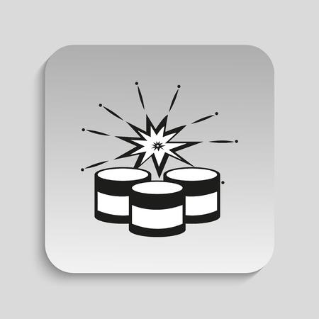 beaten: Symbol. Explosives. Vector icon.