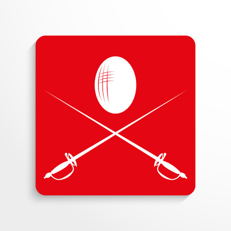 esgrima: Sports symbols. Fencing. Vector icon.