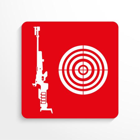persuasion: Sport signs. Skeet shooting. Vector icon.