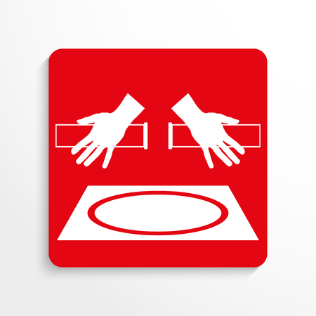 incidence: Sport signs. Freestyle wrestling. Vector icon. Illustration