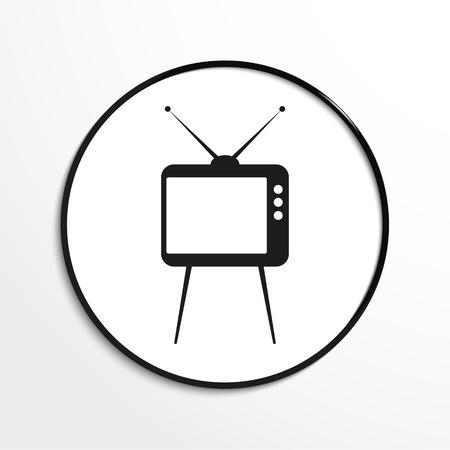 LA TÉLÉ. Vector icône. Banque d'images - 63050864
