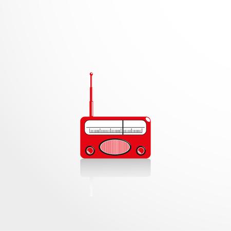 old radio: Old radio. Vector icon. Illustration