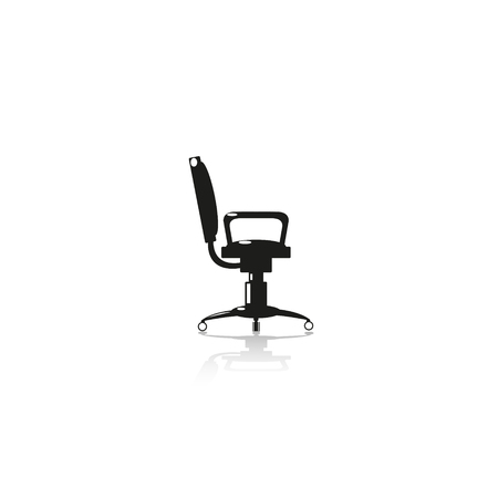 computer chair: Computer chair. Vector icon.