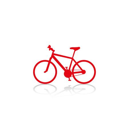 bicicleta vector: Una bicicleta. Icono del vector.