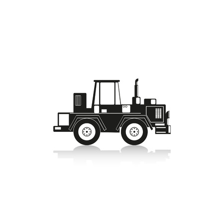 movers: Construction machinery. Tractor. Vector icon.