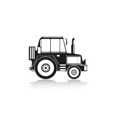 crawler tractor: Construction machinery. Tractor. Vector icon.