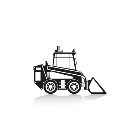 stockpile: Construction machinery. Loader. Vector icon. Illustration