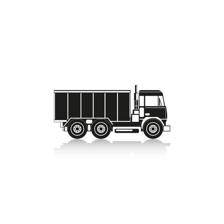 truckload: Truck. Vector icon.