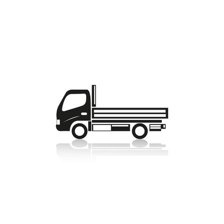 hauling: Truck. Vector icon.