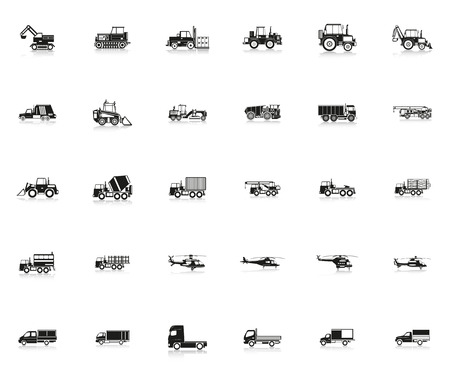 planos electricos: Set of vector icons on the theme of transport.