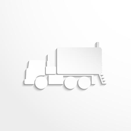 haulage: Truck. Vector icon
