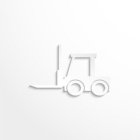 stockpile: The loader. Vector icon
