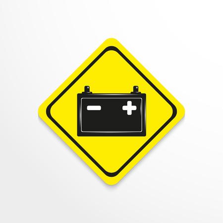 zinc: Car battery. Vector icon. Illustration