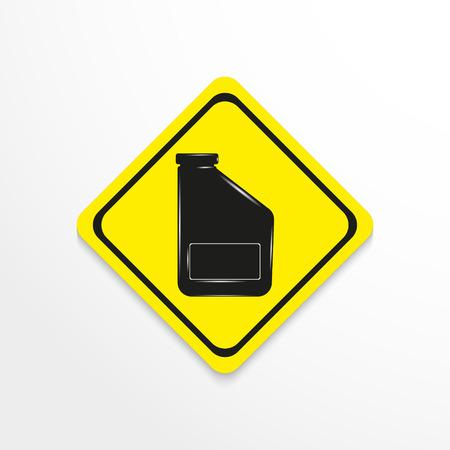 refuel: Car oil. Vector icon.