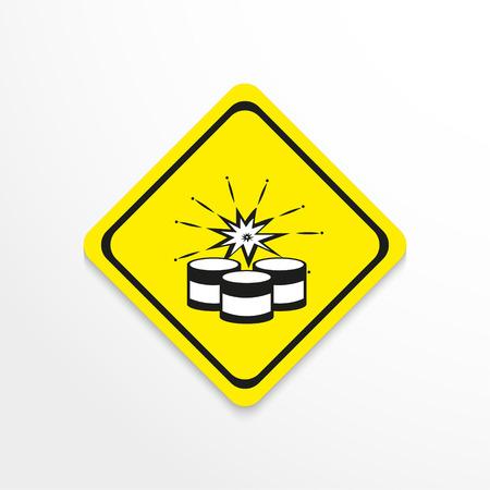 dinamita: Símbolo. Explosivos. Icono del vector.