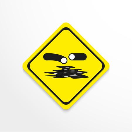 rupture: Symbol. Pipeline rupture. Vector icon. Illustration