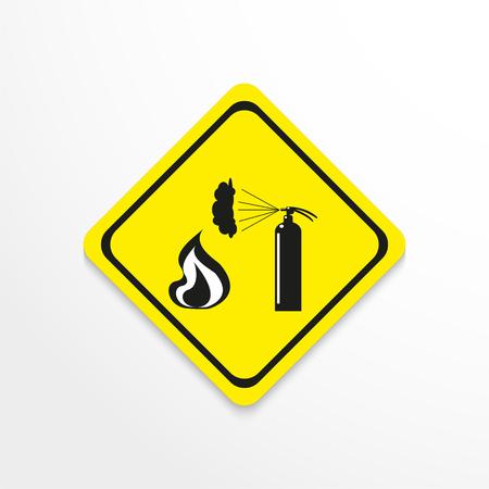Symbol. Open flame. Vector icon.