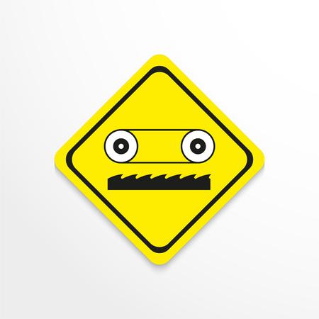 Symbol. Band-saw. Vector icon. Illustration