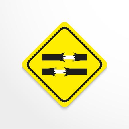 Symbol. Bare wires. Vector icon. Illustration