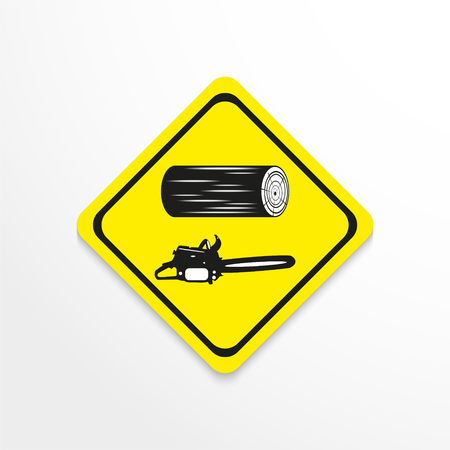 raw materials: Harvesting work. Vector icon.