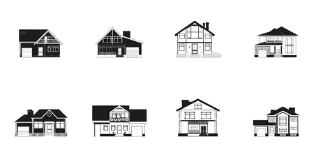 homes: Set of icons on the theme of private homes.