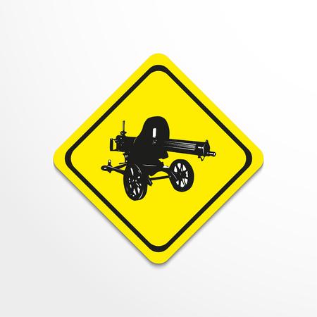 Maxim machine gun. Vector illustration.